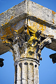 Corinthian fluted granite column with ornate capital, Temple of Diana, Evora, Alentejo, Portugal,