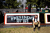 Historic narrowboat Preseident