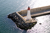 Lighthouse at the entrance to Cagliari Port, Sardinia