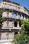 The Coliseum in Rome, Italy,