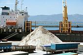 Pile of salt, Cagliari Harbour, Cagliari, Sardinia